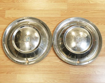 Pair of 1954 Plymouth Hubcaps Wheel Covers Caps- 15""