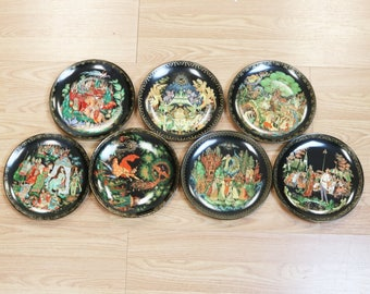 7 Vtg Bradford Exchange Russian Legends Fairytale Collector Plates 1980s