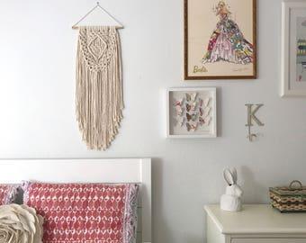 macrame patterns macrame pattern large macrame wall hanging. Black Bedroom Furniture Sets. Home Design Ideas