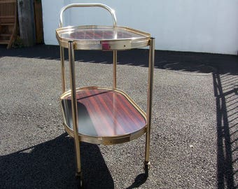 Vintage Drinks Trolley.Two Tier Beverage Serving Cart Mid century. Hostess trolley (AA5)