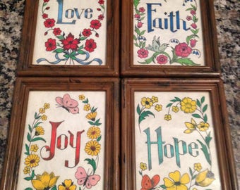 Four Felt Art Pieces