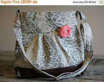 CHRISTMAS SALE Concealed Carry Purse, Concealed Carry Handgun Purse, Damask, Conceal Carry Handbag, Concealed Carry Purse, Conceal and Carry