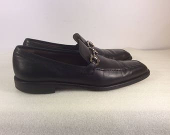 Vintage Ferragamo Studio men's black leather shoes size 8.5