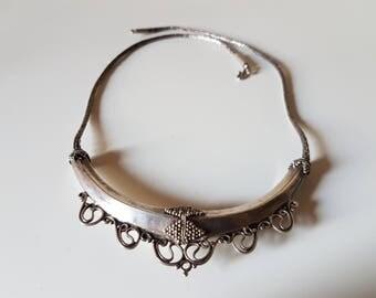 Antique Sri Lanka Necklace, Sri Lankan Necklace, Kandyan silver jewelry, Silver wire Chain, Antique Sri Lankan jewelry