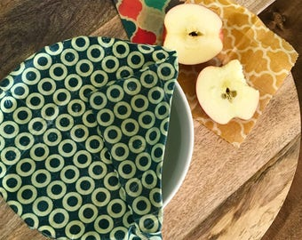 Beeswax Food Wraps - various sizes - assorted - natural beeswax