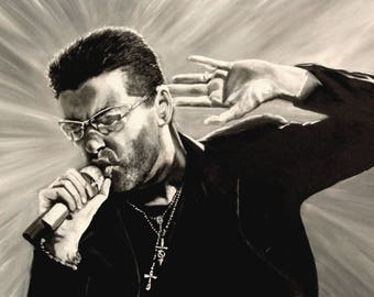 George Michael - YOG - Limited Edition Mounted A3 artist original print