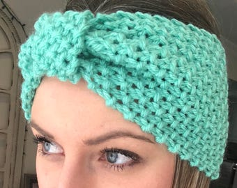 Aqua Knit Ear Warmer Headband