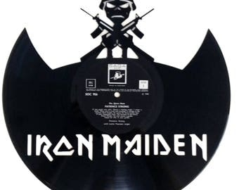 Iron Maiden - Vinyl Record Art/Clock