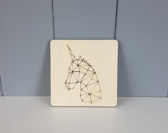Geometric Coaster - Unicorn - 100mm / 4""