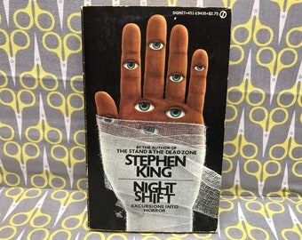 Night Shift by Stephen King paperback book in horror anthology short stories vintage