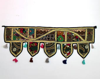 Handmade Window Door Valance Home Decor Decorative Embroidered Patchwork Toran Pelmet Topper Drapery Top Hanging Tent Decoration Art E937