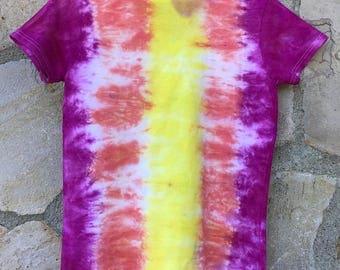 Sunset Boulevard Women's V-neck Tie Dye Tee Shirt