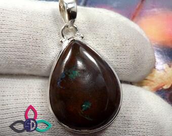 Boulder Opal Gemstone, Boulder Opal Pendant, Prong Set Pendant, Solid Silver Pendant, Wedding Pendant, Thanks Giving Pendant, Gift Idea