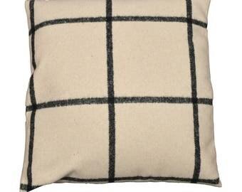 "Square cushion 40x40cm removable fabric ""Off-white Shetland"""