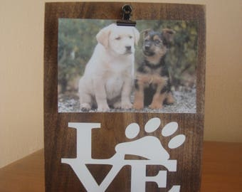 Dog Picture Frame, Paw Print Picture Frame, Dog Lover Gift, Love Paw Frame, Dog Photo Frame, Dog Frame, Pet Picture Frame, Dog Lover