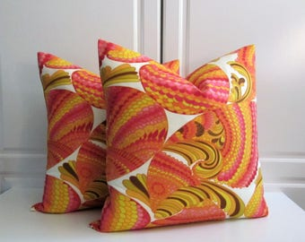 Trina Turk Decorative Pillow Cover-Pisces in Punch-Indoor/Outdoor- 14x14, 16x16, 18x18, 20x20, 13x23 Lumbar