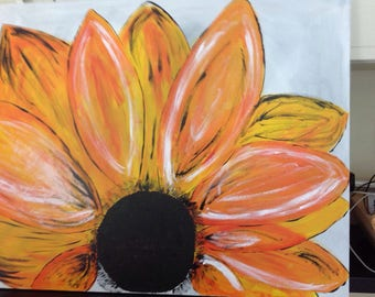 Large sun flower