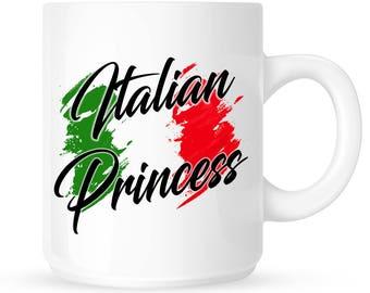 Italian Princess Coffee Mug, Italy Colors, Daddy's Little Girl, Mafia Princess, Italian Pride