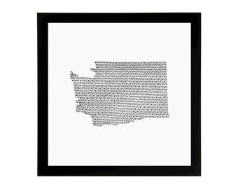 Washington State Love Art Print