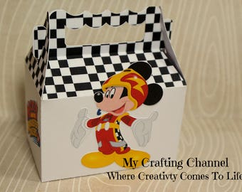SM Mickey #1 Roadster Racer Birthday Treat Box Sets-Mickey Roadster Racer-Mickey-Birthday Treat Boxes-Classroom Party Boxes
