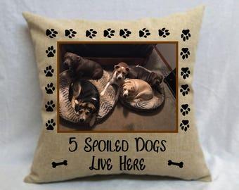 Personalized Pet/Photo Pillow, Dog Pillow, Doberman Pillow, Custom Dog Picture Pillow, Dog Keepsakes, Pet Loss Pillows, Pet Portraits