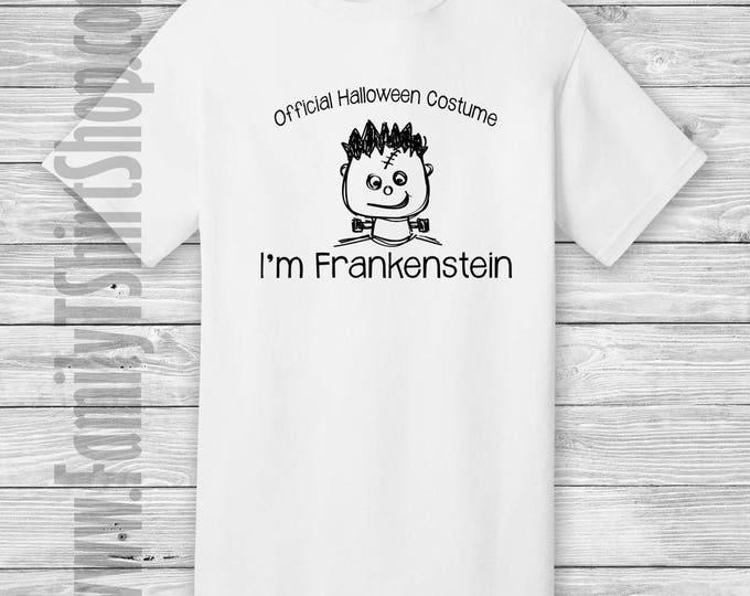 Official Halloween Costume I'm Frankenstein T-shirt