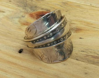 Handmade - Upcycled Vintage Spoon Ring - Jewellery - Size V (UK)