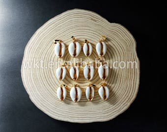 WT-P547 Lovely tiny cowries pendant, high quality fashion 24 k gold dipped shell  pendant