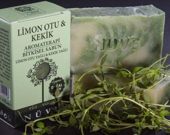 Nuve Lemongrass Thyme Soap - Handmade Aromatherapy Herbal Collection - All Natural With Olive Oil (110 gr. / 4 oz.)