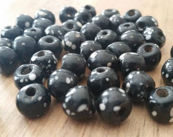 Group of Six 8mm Glass Eye Beads