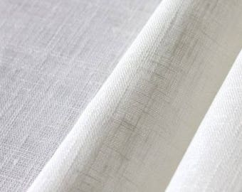 25 meters fine washed linen white-collar 1st choice 160 GR M2 fabric