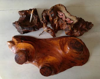 Wooden holm-ashtray-door set of objects-container candy-corkscrew-hanger-furnishings mountain-rustic furnishings