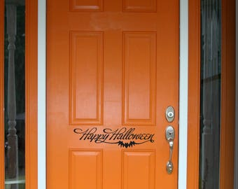 Happy Halloween Door Decal