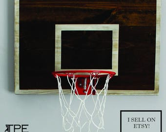 Vintage Designed Basketball Goal Basketball Wall Decor-Great for Rustic Man Cave, Basement, Office or Child's Sports Room-CHOOSE YOUR SIZE