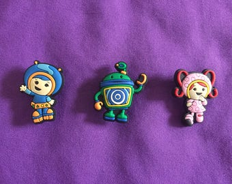 Team Umizoomi Shoe Charms for Crocs, Silicone Bracelet Charms, Party Favors, Jibbitz