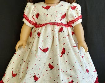 "The Cardinals are out, and on this Nightgown for your 18"" Doll, ready to ship!"