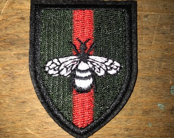 Gucci Bubble Bee Stripes Iron On Patch