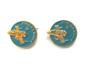 Luna 5, Luna 6, Set of 2 Soviet Space Badges, Vintage metal collectible badge, Spacecraft, Soviet Pin, Vintage Badge, Made in USSR, 1980s