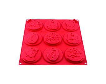 Mold for cookies X 9 - My Holiday cookie Christmas tree decorations