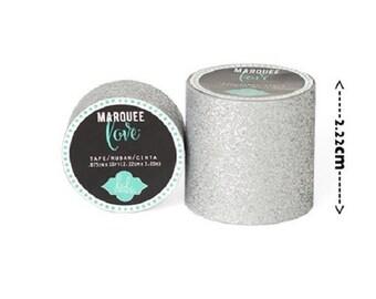 Masking tape / Washi tape fashion - shiny silver