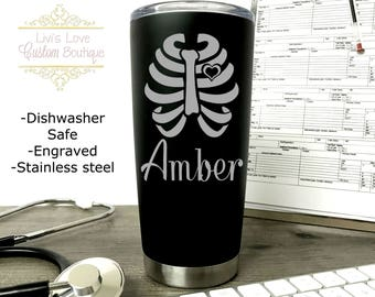 Rad Tech, Radiology Tech, Radiologist Gift, X Ray Tech Mug, Coffee Travel Mug, Stainless Steel Thermos, Engraved Tumbler XRay technologist