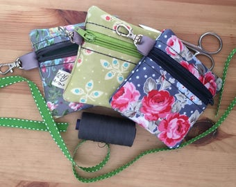 Oilcloth coin purse/key keeper
