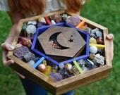 Chakra and Crescent Moon Hexagonal Meditation Box