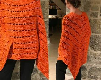 Printed crochet pattern Chunky Poncho