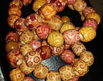 Chunky Wooden Bracelets