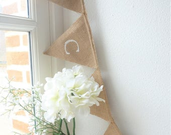 "Bunting burlap wedding ""thank you"""