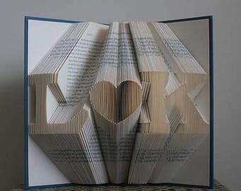Gepersonaliseerde Gift, verjaardagsgift, eerste verjaardag, gevouwen boek, Gift voor vrouw, cadeau voor de man, als cadeau voor koppels, bruiloft Ornament