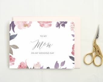 To My Dad Card. To My Mother Card. To My Father Card. Wedding Day Cards from Bride. Mom Wedding Day Card. Father of the Bride Card. DO-10