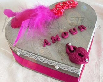 ring bearer box heart colors to choose to customize
