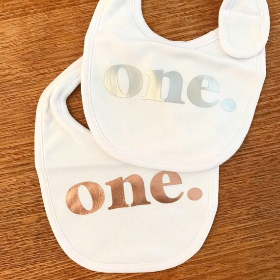BABY BIB - First Birthday Bib - One Bib